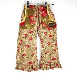 Matilda Jane ruffle pants floral print pockets 6